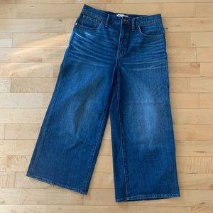 Madewell | wide leg crop in denim blue size 29